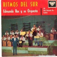 Discos de vinilo: EDMUNDO ROS ORQUESTA - LA VIDA ROSA / SIBONEY/ABRIL EN PORTUGAL +1 - EP 1960 DECCA SPAIN. Lote 86575104