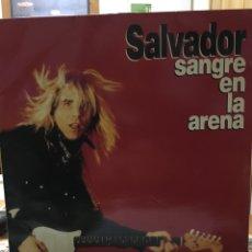 Discos de vinilo: SALVADOR-SANGRE EN LA ARENA-1992-ENCARTE,LETRAS Y HOJA PROMOCIONAL-VINILO NUEVO-BANZAI,TIGRES. Lote 86582890