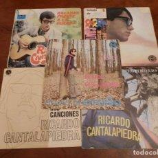 Discos de vinilo: EP Y CUATRO SINGLES, RICARDO CANTALAPIEDRA.1968,FUNDAS USO, VINILOS NUEVOS.. Lote 86588688