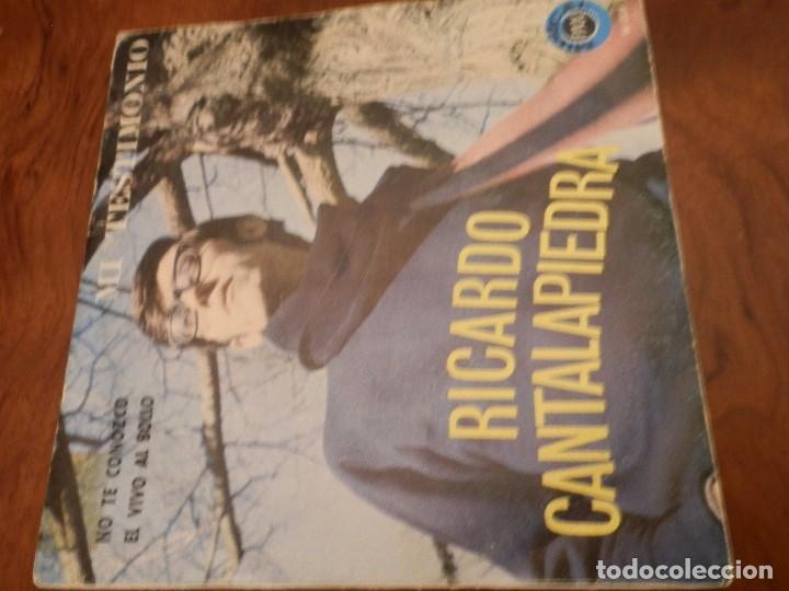 Discos de vinilo: EP Y CUATRO SINGLES, RICARDO CANTALAPIEDRA.1968,FUNDAS USO, VINILOS NUEVOS. - Foto 3 - 86588688