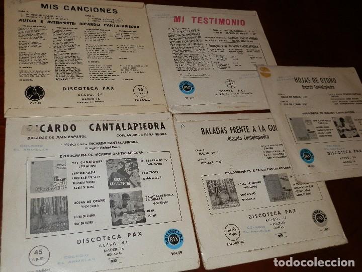Discos de vinilo: EP Y CUATRO SINGLES, RICARDO CANTALAPIEDRA.1968,FUNDAS USO, VINILOS NUEVOS. - Foto 7 - 86588688