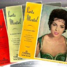 Discos de vinilo: 3 EP´S DE SARITA MONTIEL ( 12 CANCIONES DE LA PELICULA EL ULTIMO CUPLE). Lote 86589052