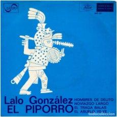 Discos de vinilo: LALO GONZÁLEZ EL PIPORRO – HOMBRES DE DELITO - EP SPAIN 1968 - MUSART/ZAFIRO MZ-29. Lote 86594128