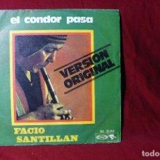 Discos de vinilo - facio santillan / el condor pasa / pajaro campana / riviera sn-20.361 / 1970. - 86598500