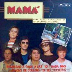 Discos de vinilo: MAMÁ, REGRESAS A CASA A LAS 10 - EP EDICIÓN LIMITADA Y NUMERADA, CON HOJA DE LETRAS INCLUIDA. Lote 86605444
