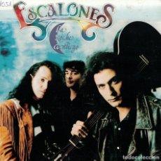 Discos de vinilo: ESCALONES - LA NOCHE CONTIGO / CAMBIO DE BAR (SINGLE PROMO ESPAÑOL, MAX MUSIC 1992). Lote 86613500