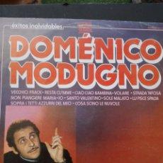 Discos de vinilo: DOMENICO MODUGNO ÉXITOS INOLVIDABLES. Lote 86617548
