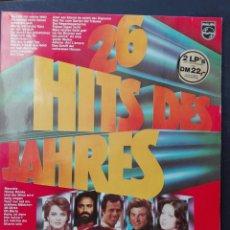 Discos de vinilo: 26 HITS DE JAHRES 2 LPS. Lote 86623299