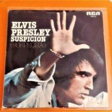 Discos de vinilo: ELVIS PRESLEY - SUSPICION (SOSPECHA) / IT'S A LONG LONELY HIGHWAY (SINGLE 1977 ). Lote 86625308