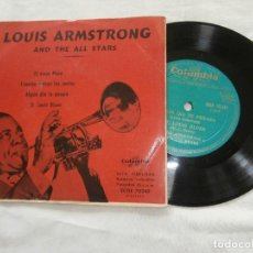 Discos de vinilo: LOUIS ARMSTRONG AND THE ALL STARS 7´EP EL VIEJO MOSE (EDITADO 20-2-1956) TIRADA 200 COPIAS -ED.SPAIN. Lote 86636164