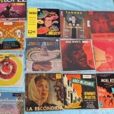 Discos de vinilo: LOTE 16 DISCOS SINGLES-CANTANTES MEXICANOS-AÑOS 60/70. Lote 86637476