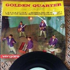 Discos de vinilo: GOLDEN QUARTER. LOCOMOTION, QUIERES BAILAR EL SLOP, THE ACTOR, MUCHO MOVIMIENTO. Lote 86640688