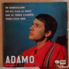 Discos de vinilo: ** ADAMO - EN BANDOULIERE + 3 - EP AÑO 1966 - LEER DESCRIPCIÓN. Lote 86650884