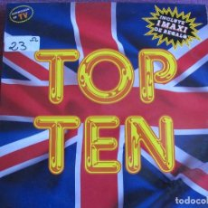 Discos de vinilo: LP - TOP TEN - VARIOS (VER FOTO ADJUNTA) (SPAIN, BLANCO Y NEGRO MUSIC 1989, CONTIENE MAXI). Lote 86659544