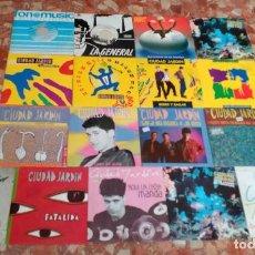 Disques de vinyle: CIUDAD JARDIN LOTE 16 SINGLES . Lote 86663872