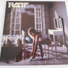 Discos de vinilo: RATT. LP. INVASION OF YOUR PRIVACY. EDICIÓN ESPAÑOLA PROMOCIONAL. ATLANTIC 1985. Lote 86666380