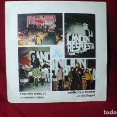 Discos de vinilo: II FESTIVAL DE LA CANCION RESPUESTA MARISTAS DE CATALUNYA / BARLOVENTO S-1/ 1975 / 4 TEMAS -. Lote 86688528