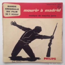 Discos de vinilo: BSO MOURIR A MADRID :MAURICE JARRE (1963). Lote 86693308