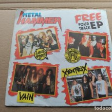 Discos de vinilo: FOUR TRACK EP VARIOUS METAL HAMMER - LITTLE ANGELS / VAIN / XENTRIX / THE ALMIGHTY UK 1989 VG+. Lote 86697732