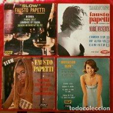 Discos de vinilo: FAUSTO PAPETTI (LOTE 4 EPS. MADE IN FRANCE EN BUEN ESTADO) (AÑOS 60). Lote 86702888
