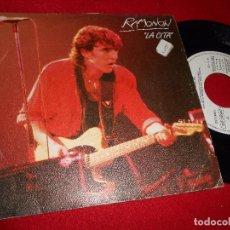 Discos de vinilo: RAMONCIN LA CITA/POLVO BLANCO SINGLE 7'' 1985 EMI PROMO SPAIN. Lote 86711344