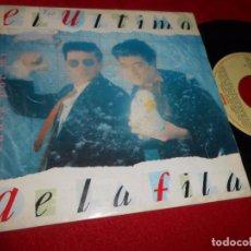 Discos de vinilo: EL ULTIMO DE LA FILA CANTA POR MI/THE BLUE RABBITS MACHINE CORPORATION'S HYMN SINGLE 7'' 1990 SPAIN. Lote 86713436