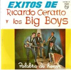 Discos de vinilo: EP EXITOS DE RICARDO CERATTO Y LOS BIG BOYS ( EP DE 4 CANCIONES, DISCO DE 1964, COMO NUEVO ). Lote 86738656