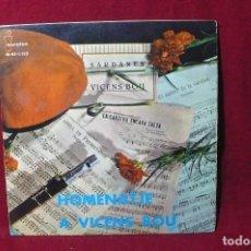 Discos de vinilo: SARDANES DE VICENS BOU / EL SALTIRO DE LA CARDINA /LA CARDINA ENCARA SALTA / L'ANELL DE PROMETATGE-. Lote 86742220