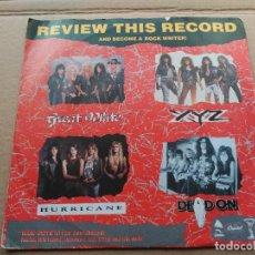 Discos de vinilo: EP VARIOUS - RAW CUTS - UK 1990 VG+ GREAT WHITE - XYZ - HURRICANE - DEAD ON. Lote 86742624