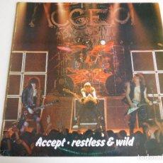 Discos de vinilo: ACCEPT. LP. RESTLESS & WILD. EDICIÓN ESPAÑOLA. VICTORIA 1983. Lote 86749360