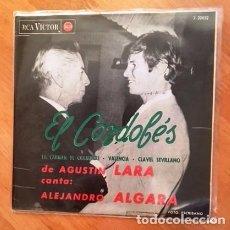 Discos de vinilo: EL CORDOBÉS - AGUSTÍN LARA - ALEJANDRO ALGARA - 1964. Lote 86759028