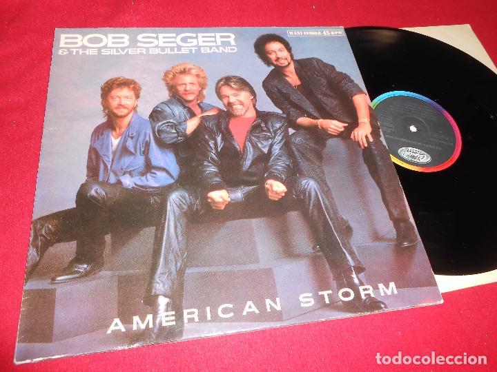 BOB SEGER&THE SILVER BULLET BAND AMERICAN STORM/FORTUNATE SON MX 12'' 1986 CAPITOL SPAIN (Música - Discos de Vinilo - Maxi Singles - Pop - Rock - New Wave Extranjero de los 80)