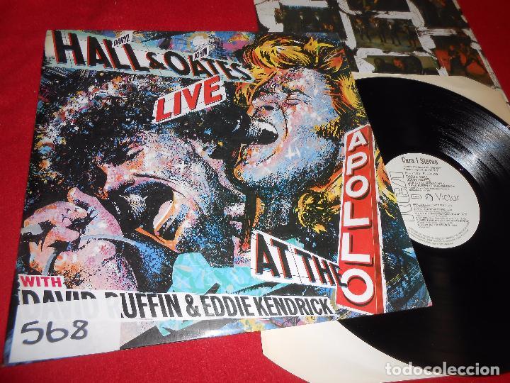 DARYL HALL JOHN OATES LIVE AT THE APOLLO WITH DAVID RUFFIN&EDDIE KENDRICK LP 1985 RCA PROMO SPAIN (Música - Discos - LP Vinilo - Pop - Rock - Extranjero de los 70)