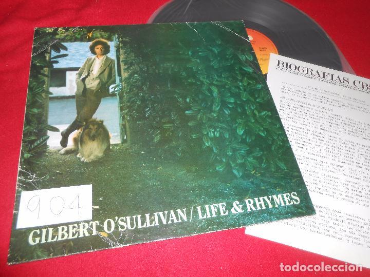 GILBERT O'SULLIVAN LIFE AND RHIMES LP 1982 CBS EDICION ESPAÑOLA SPAIN + HOJA PROMO (Música - Discos - LP Vinilo - Pop - Rock - Extranjero de los 70)