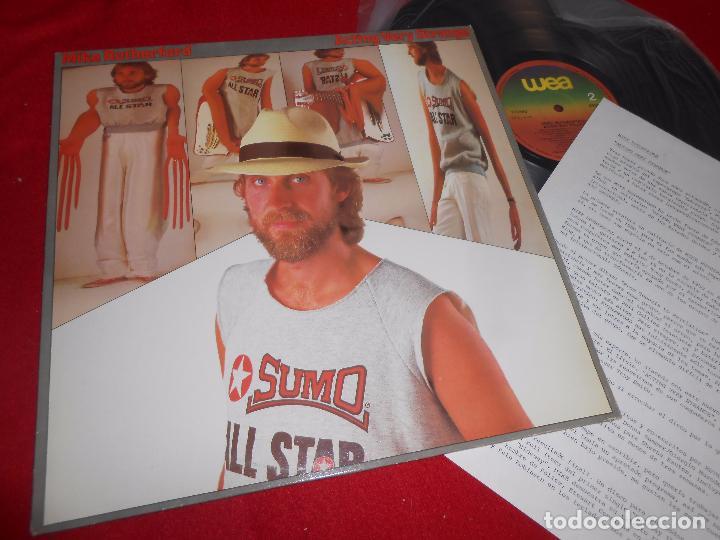 MIKE RUTHERFORD ACTING VERY STRANGE LP 1982 WEA PROMO EDICION ESPAÑOLA SPAIN + HOJA PROMO (Música - Discos - LP Vinilo - Pop - Rock - Extranjero de los 70)