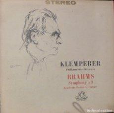 Discos de vinilo: KLEMPERER. PHILARMONIA ORCHESTRA. BRAHMS. SINFONIA Nº 3. ANGEL RECORDS.. Lote 86827856