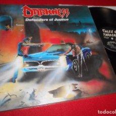 Discos de vinilo: DARKNESS TALES OF THRASH DEFENDERS OF JUSTICE LP 1988 EDICION ALEMANIA GERMANY. Lote 86828784