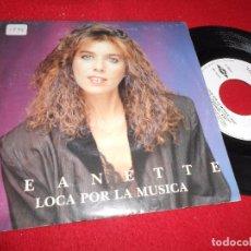 Discos de vinilo: JEANETTE LOCA POR LA MUSICA/SINCERIDAD SINGLE 7'' 1989 TWINS EDICION ESPAÑOLA SPAIN. Lote 86847976