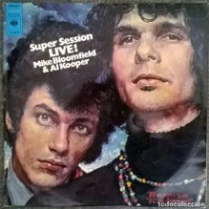 Discos de vinilo: MIKE BLOOMFIELD & AL KOOPER. LIVE ADVENTURES! SUPER SESSION CBS HOLLAND 1969 (2 LP + DOBLE CARPETA). Lote 86861032