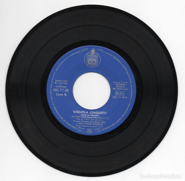 Discos de vinilo: DISCO EP 45 RPM - GIGLIOLA CINQUETTI - Foto 2 - 86866164