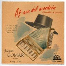 Discos de vinilo: DISCO EP 45 RPM - AL SON DEL ACORDEON (PASODOBLES ESPAÑOLES). Lote 86866848