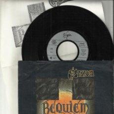 Discos de vinilo: SAXON SINGLE REQUIEM (WE WILL REMMBER) / ALTAR OF THE GODS ALEMANIA.1990.CON HOJA PROMO EN ESPAÑOL. Lote 86877108