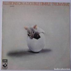 Discos de vinilo: TRIUMVIRAT..ILLUSIONS ON A DOBLE DIMPLE.(HARVEST 1974).SPAIN. Lote 86888124