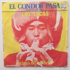 Discos de vinilo: LOS INCAS: EL CONDOR PASA + RISAS DE BOLIVIA 1970 . Lote 86889992