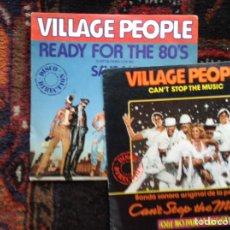 Discos de vinilo: DOS SINGLES . THE VILLAGE PEOPLE. Lote 86899675