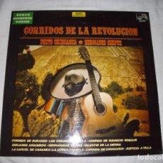 Discos de vinilo: LP RANCHERAS - CORRIDOS DE LA REVOLUCION. Lote 189886546