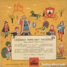 Discos de vinilo: CANCIONES POPULARES INFANTILES - ADAPT. RAFAEL FERRER- EP LA VOZ DE SU AMO 1958. Lote 86929840