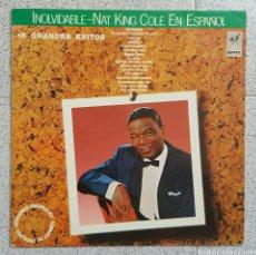 Discos de vinilo: LP INOLVIDABLE NAT KING COLE. Lote 86939856