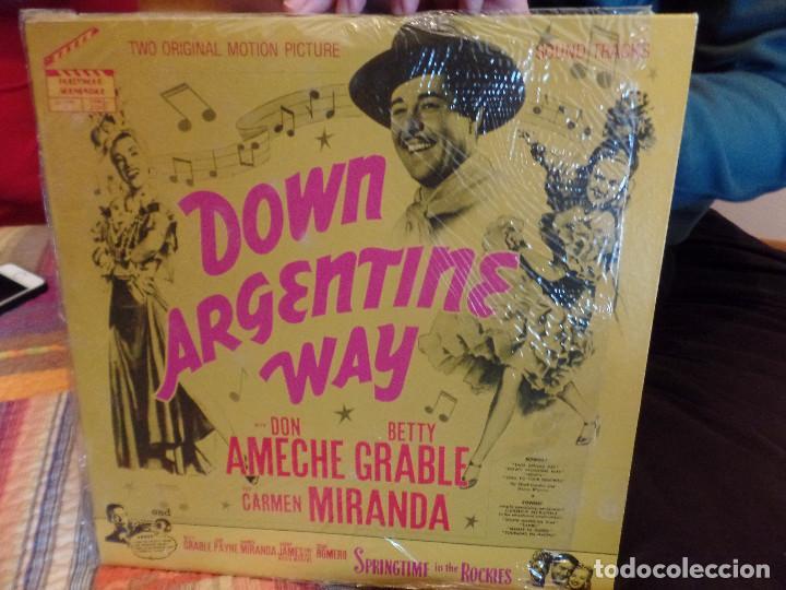DOWN ARGENTINE WAY CARMEN MIRANDA, DON AMECHE (Música - Discos - LP Vinilo - Bandas Sonoras y Música de Actores )
