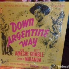 Discos de vinilo: DOWN ARGENTINE WAY CARMEN MIRANDA, DON AMECHE. Lote 86955748
